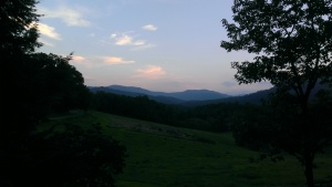 A summer evening in the Blue Ridge Mountains of North Carolina