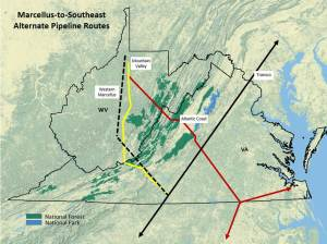 Proposed Natural Gas Pipeline Routes