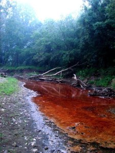 This spill on Buckeye Creek in Doddridge County, W.Va. in 2009 is an example of how the natural gas industry cares for creation. Photo by Ed Wade Jr.