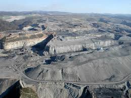 A mountaintop removal site Photo courtesy of Ohio Valley Environmental Coalition
