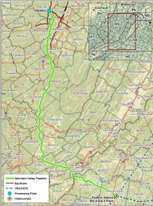 Mountain Valley Pipeline Courtesy: FracCheckWV