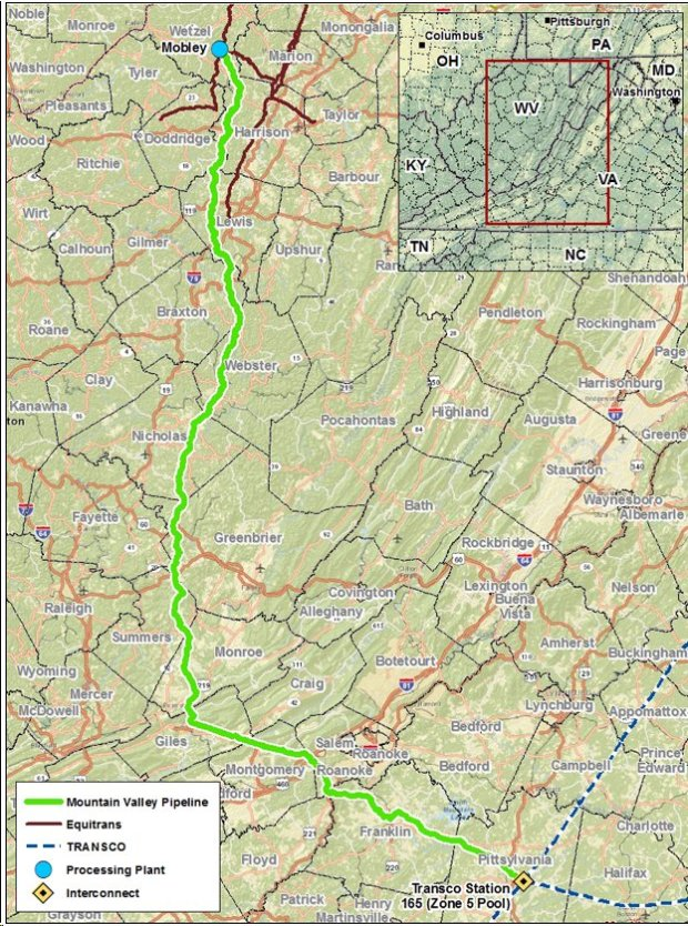 Mountain-Valley-Pipeline-Map