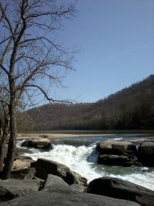 The Tygart Valley River at Valley Falls State Park on the Marion and Taylor County line in West Virginia. Photo by MB