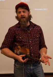 Ben Townsend, a West Virginia native and traditional Appalachian musician, teaches at the conference. Photo by Keely Kernan