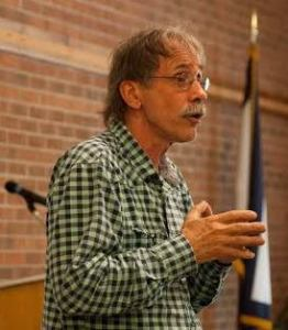 Bob Henry Baber, an Appalachian poet, writer and educator, speaks at the conference. Photo by Keely Kernan
