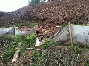 Failed erosion control on construction of Stonewall Gas Gathering pipeline in West Virginia Photo by Autumn Bryson