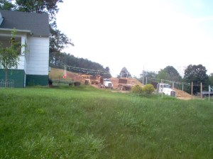 The Stonewall Gas Gathering pipeline construction is less than 100 feet from this home near Weston, W.Va.