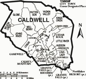 caldwell-county-map