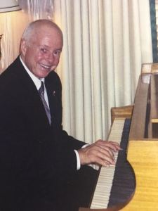 Max Waters on piano