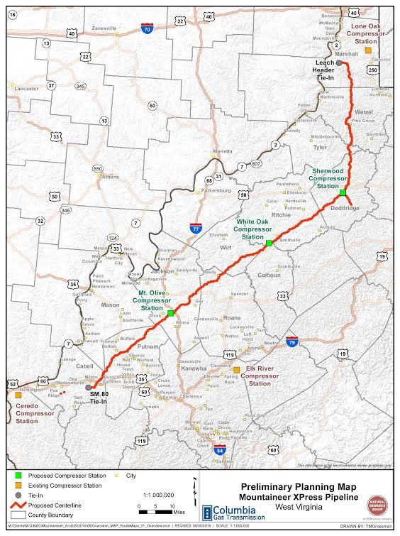 OVEC pipeline map