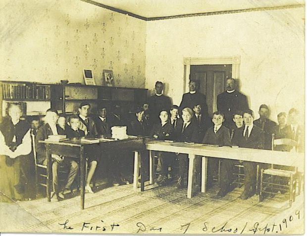 Patterson school 1909 first day