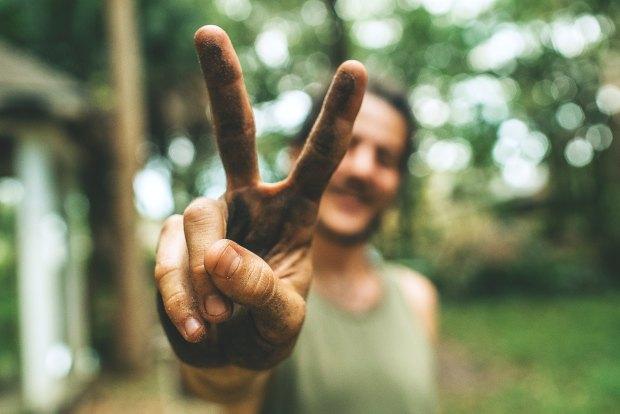 No Nukes Peace hand