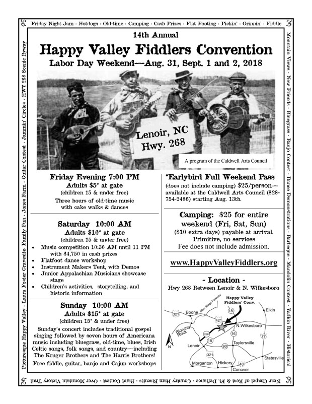Happy Valley Fiddlers Flyer_2018_1updated 8-1-18 updated 8-8-18 with CAC