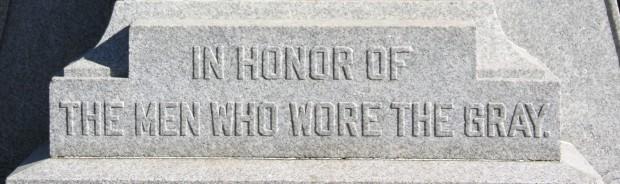 FTR Confederate monument