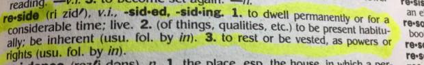Reside definition
